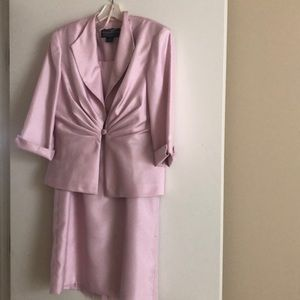 Pink dress and matching blazer by Jessica Howard